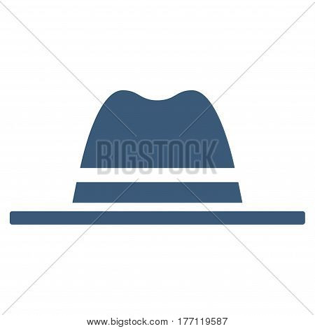 Hat vector icon. Flat blue symbol. Pictogram is isolated on a white background. Designed for web and software interfaces.