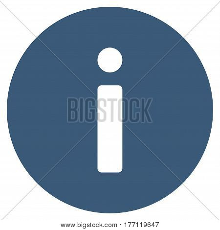 Info vector icon. Flat blue symbol. Pictogram is isolated on a white background. Designed for web and software interfaces.