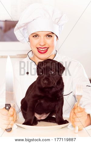 chef is trying out a new kind of meat
