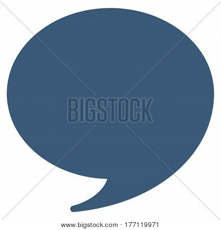 Quote vector icon. Flat blue symbol. Pictogram is isolated on a white background. Designed for web and software interfaces.