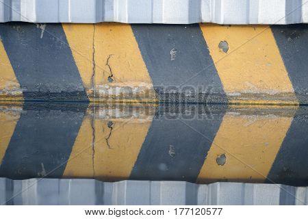 Reflex Of Bluding On Water Floor.