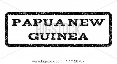 Papua New Guinea watermark stamp. Text tag inside rounded rectangle with grunge design style. Rubber seal stamp with dirty texture. Vector black ink imprint on a white background.