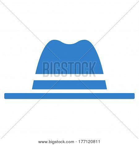 Hat vector icon. Flat cobalt symbol. Pictogram is isolated on a white background. Designed for web and software interfaces.