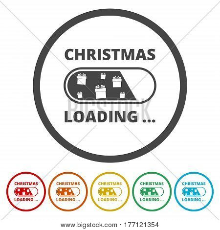 Christmas loading card design on white background
