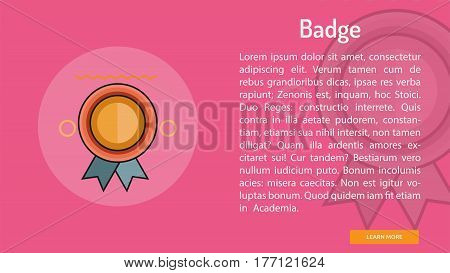 Badge Conceptual Banner | Great banner flat design illustration concepts for Business, Creative Idea, Marketing and much more
