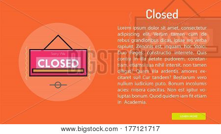 Closed Conceptual Banner | Great banner flat design illustration concepts for Business, Creative Idea, Marketing and much more