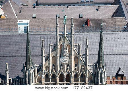 New Town Hall at Marienplatz Square. Munich. Bavaria. Germany