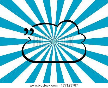 Quotation Mark Speech Bubble. Quote Sign Icon. Abstract Background.