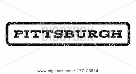 Pittsburgh watermark stamp. Text tag inside rounded rectangle with grunge design style. Rubber seal stamp with dirty texture. Vector black ink imprint on a white background.