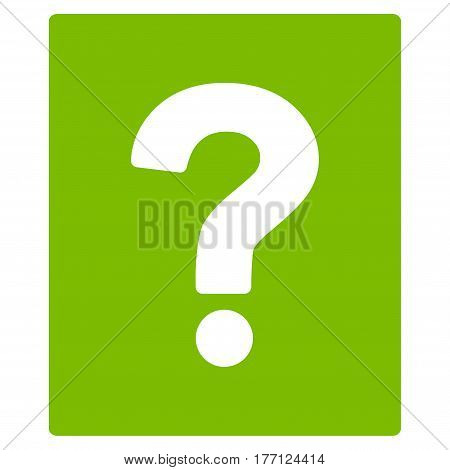 Help vector icon. Flat eco green symbol. Pictogram is isolated on a white background. Designed for web and software interfaces.