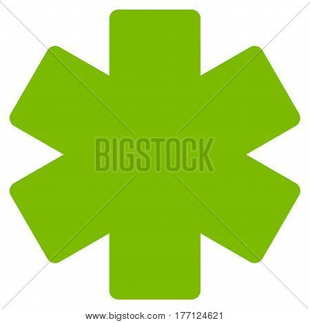 Multiply Math Operation vector icon. Flat eco green symbol. Pictogram is isolated on a white background. Designed for web and software interfaces.