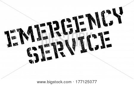 Emergency Service stamp. Grunge design with dust scratches. Effects can be easily removed for a clean, crisp look. Color is easily changed.