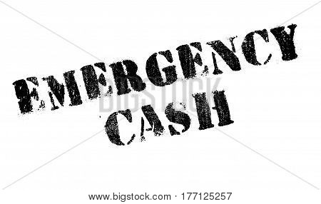 Emergency Cash stamp. Grunge design with dust scratches. Effects can be easily removed for a clean, crisp look. Color is easily changed.