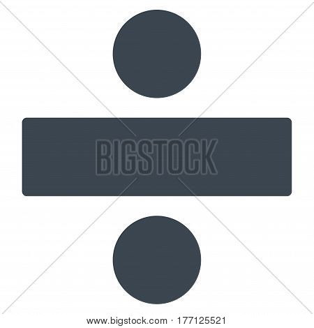 Divide Math Operation vector icon. Flat smooth blue symbol. Pictogram is isolated on a white background. Designed for web and software interfaces.