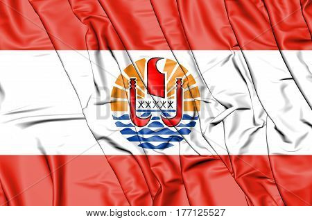 3D Flag Of The French Polynesia. 3D Illustration.