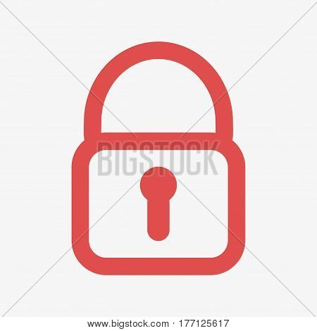 Lock Red Icon