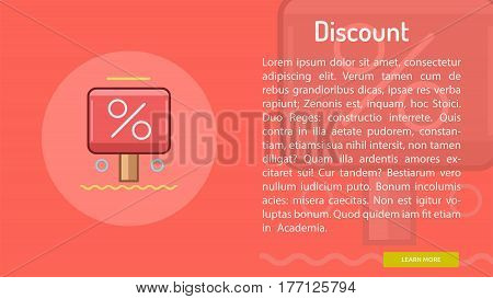 Discount Conceptual Banner | Great banner flat design illustration concepts for Business, Creative Idea, Marketing and much more