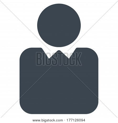 Person vector icon. Flat smooth blue symbol. Pictogram is isolated on a white background. Designed for web and software interfaces.