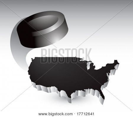 hockey puck over black united states icon