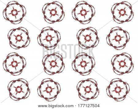 Texture With 3D Rendering Abstract Fractal Maroon Pattern