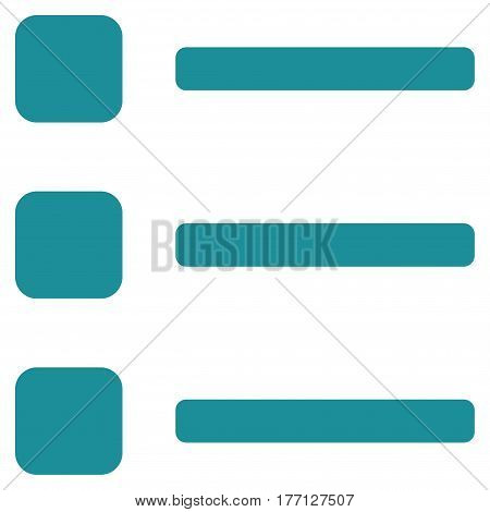 Items vector icon. Flat soft blue symbol. Pictogram is isolated on a white background. Designed for web and software interfaces.