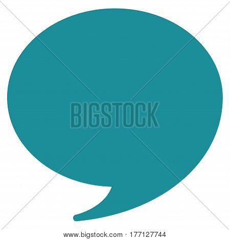Quote vector icon. Flat soft blue symbol. Pictogram is isolated on a white background. Designed for web and software interfaces.
