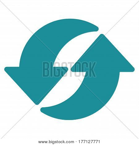 Refresh vector icon. Flat soft blue symbol. Pictogram is isolated on a white background. Designed for web and software interfaces.