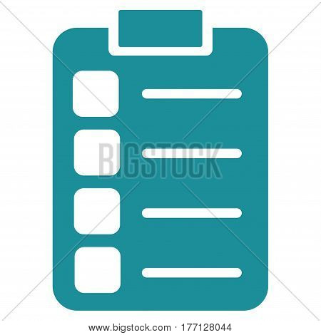 Tasks vector icon. Flat soft blue symbol. Pictogram is isolated on a white background. Designed for web and software interfaces.
