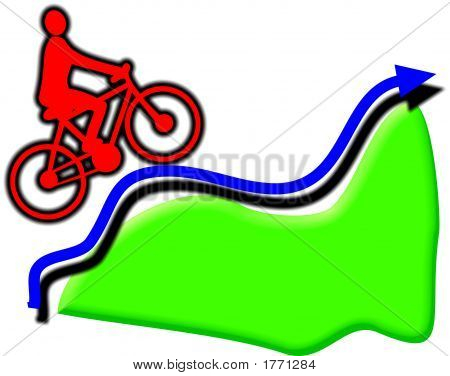 Uphill Cyclist