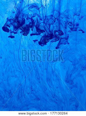 Blue Tint Motion Swirl Blob Background