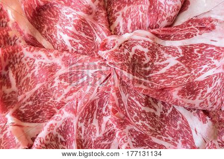 Wagyu A5 Beef meat texture for food background