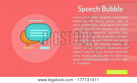 Speech Bubble Conceptual Banner | Great banner flat design illustration concepts for Business, Creative Idea, Marketing and much more