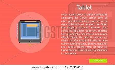 Table Conceptual Banner | Great banner flat design illustration concepts for Business, Creative Idea, Marketing and much more