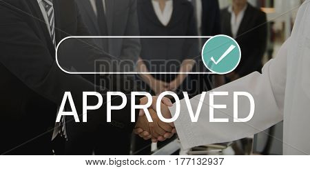 Approved Accepted Sign Tick Icon Word