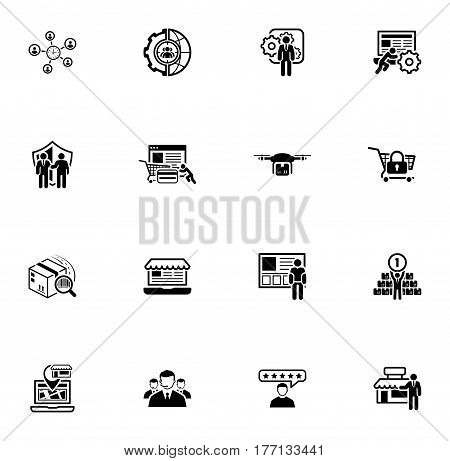 Flat Design Icons Set. Business and Finance. Isolated Illustration