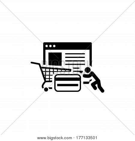 Integrated Payment Systems Icon. Flat Design. Business Concept. Isolated Illustration