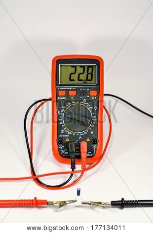 Check The Capacitor With A Multimeter.