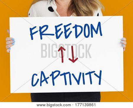 Antonyms Freedom Captivity Arrow Graphics