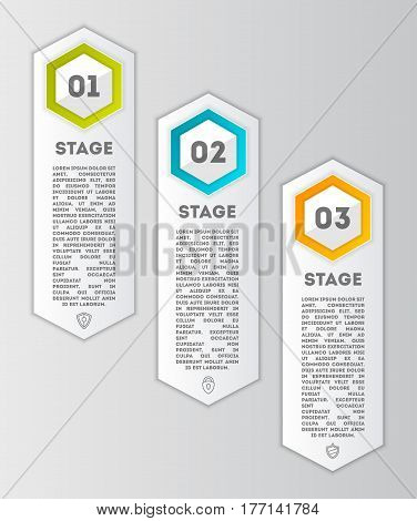 Business infographics concept set vector illustration. Data visualization, step process chart, development stage, option information, diagram elements used for workflow layout, diagram, business step