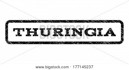 Thuringia watermark stamp. Text tag inside rounded rectangle frame with grunge design style. Rubber seal stamp with dirty texture. Vector black ink imprint on a white background.