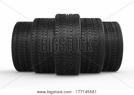 Tires With Tread Pattern