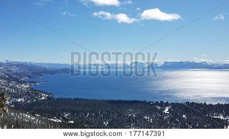 Lake Tahoe from Chickadee Ridge above Incline Village