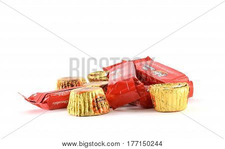 Chocolate Candies In Wrappers