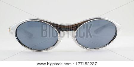 1990S Retro Plastic Silver Sunglasses