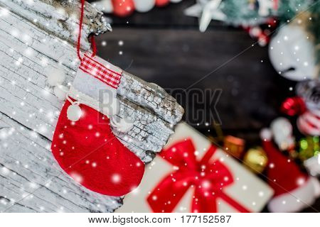Merry Christmas and Happy New Year winter season