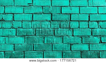Brick wall, brick, turquoise brick wall, rough brick wall, cyan brick, brickwork