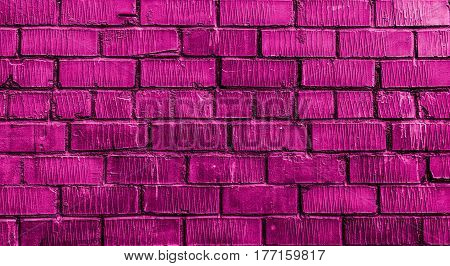 Brickwork, brick, violet brick wall, rough brick wall, purple brick, brick wall