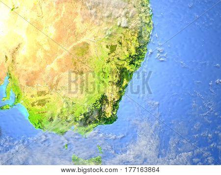 Southeast Coast Of Australia On Planet Earth
