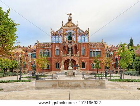 Hospital de la Santa Creu i Sant Pau complex, the world's largest Art Nouveau Site in Barcelona, Spain