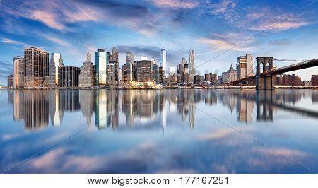 New York City Manhattan downtown NYC USA.